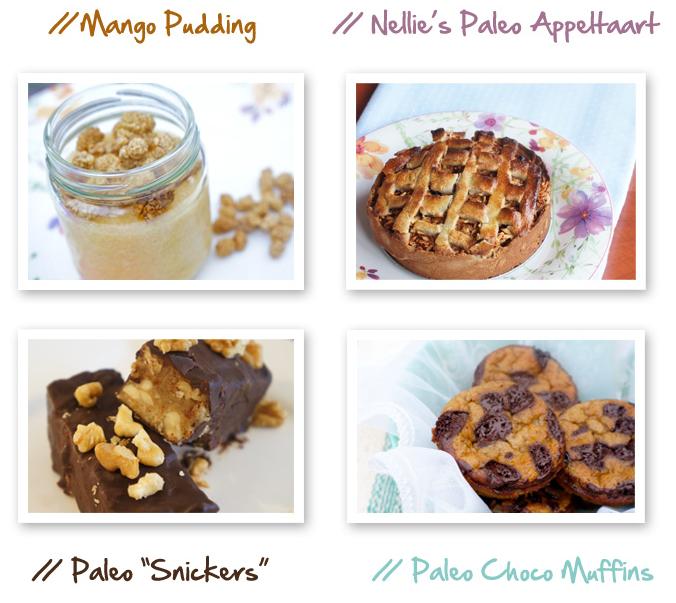 voorbeelden van paleo snacks en desserts