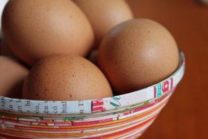 eieren in schaal